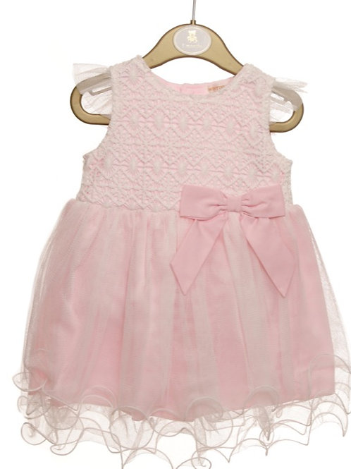 Mintini Baby Lace and Bow Dress