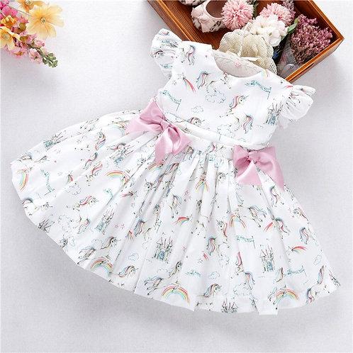 """Aurora Royal""unicorn girls dress"