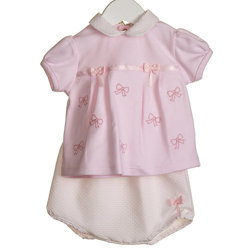 """Blues Baby"" GIRLS 2PC TOP AND BLOOMER SET"