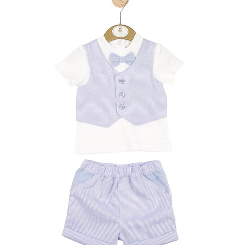 Mintini Baby Boys Blazer Shirt and Shorts Set