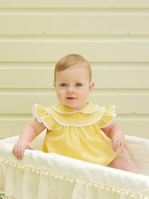 Lace Trim Bubble Babysuit