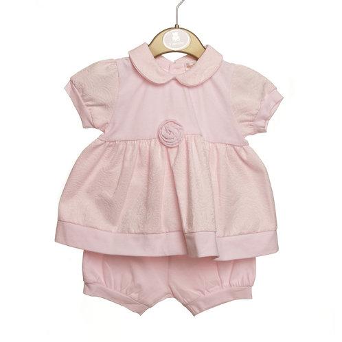 Mintini baby Girls Pink Top & Short