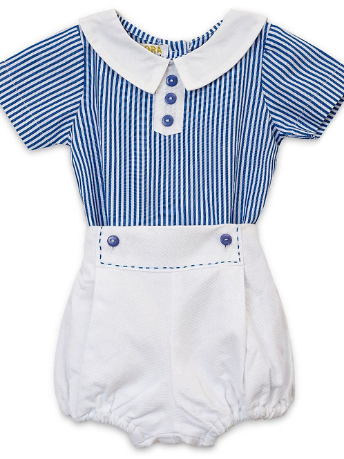 """""""Aurora Royal"""" blue and white outfit"""