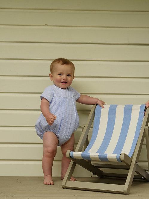 Mini Check Pleated Babysuit