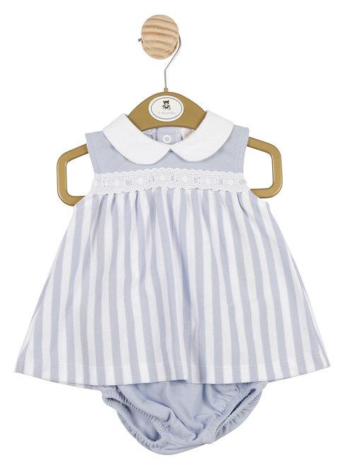 """Striped """"Ribbon and Lace"""" Dress Set"""