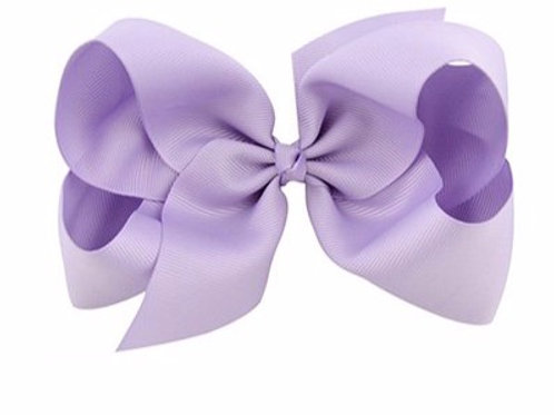 light purple hair bow clip