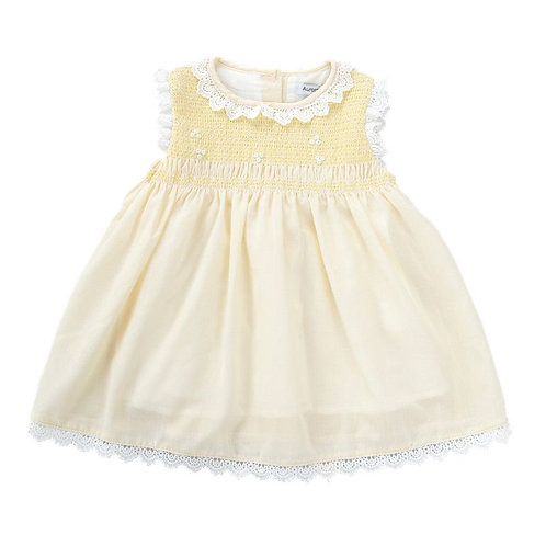 """AURORA ROYAL"" YELLOW SMOCKED DRESS"
