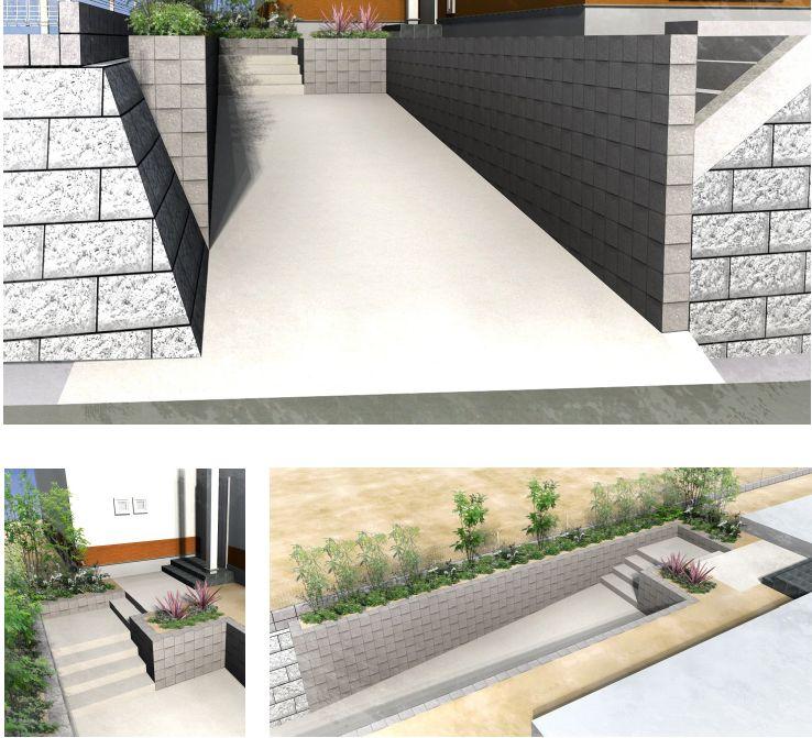 造る擁壁を より具体的なパース図で解りやすく⇒②step