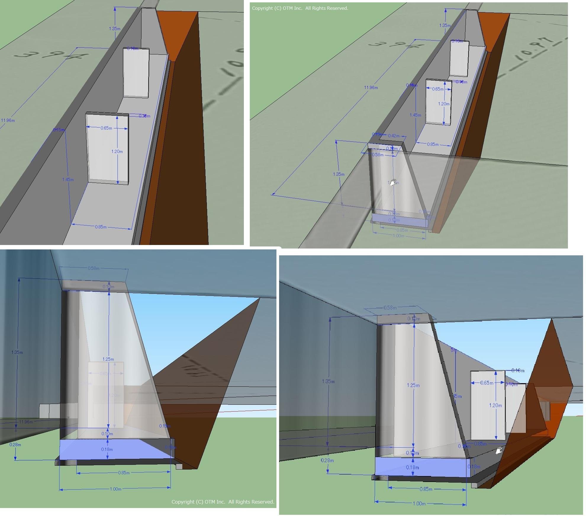擁壁造り直しのイメージ図