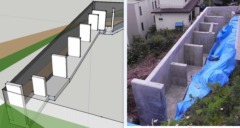 提案のイメージ図から工事へ