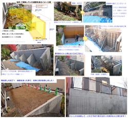 庭拡張の為に擁壁を新たに設置