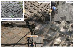 間知積み擁壁の修復例