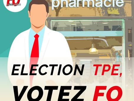 Élection TPE : salariés des pharmacies, FO se mobilise pour encourager une importante participation.