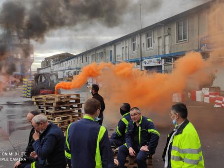 Mercredi 9 juin 2021, les salariés du port de pêche de Lorient étaient en grève.