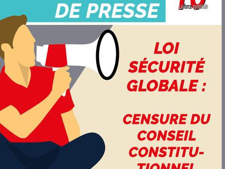 Loi sécurité globale – censure du Conseil constitutionnel