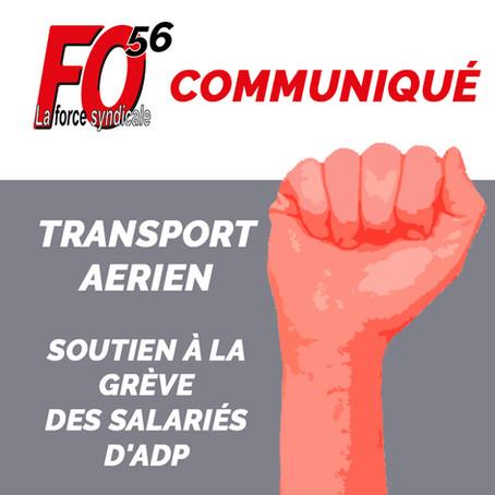 Communiqué :TRANSPORT AERIEN