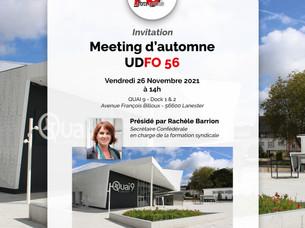 📌Invitation au Meeting du 26 novembre 2021 à 14H : Demandez le programme!