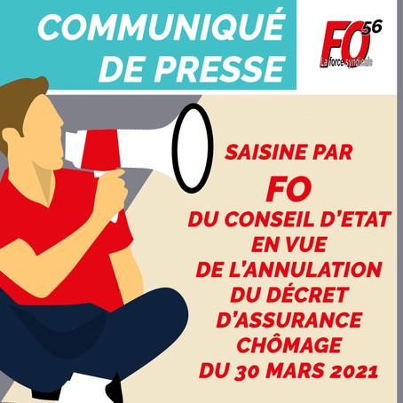 Saisine par FO du Conseil d'Etat en vue de l'annulation du décret d'assurance chômage du 30 mars