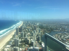 View from the Q1 Resort in Surfers Paradise 322m!