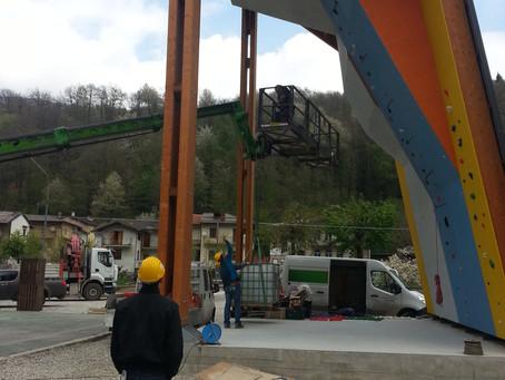 Palestra di arrampicata a Valloriate