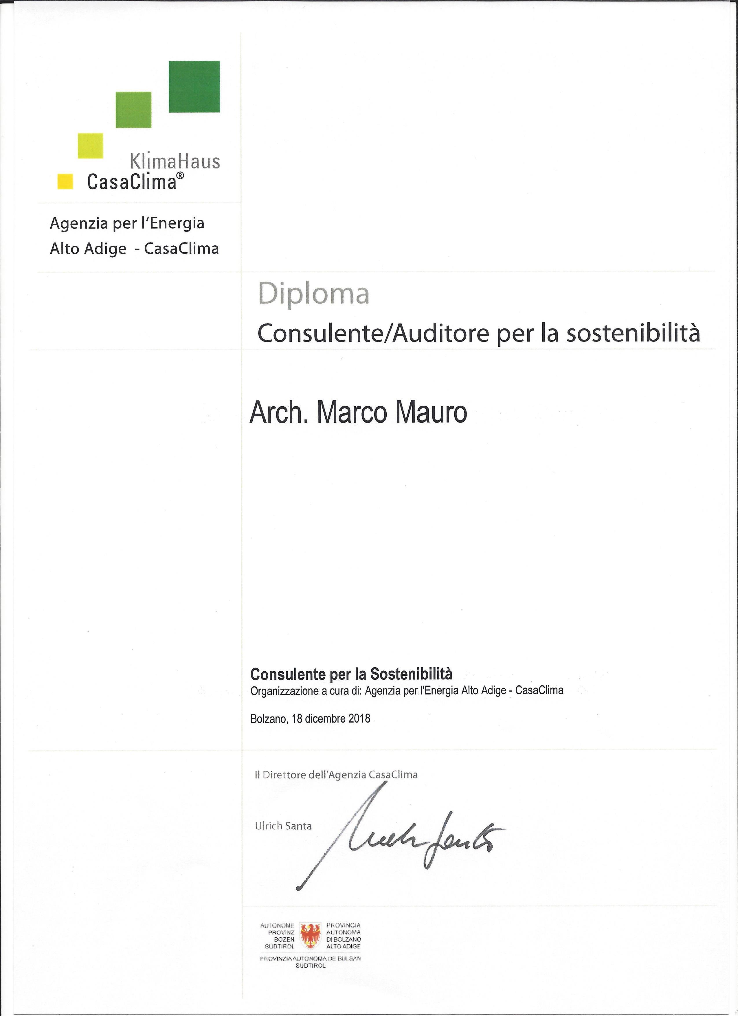 Consulente Sostenibilità CasaClima