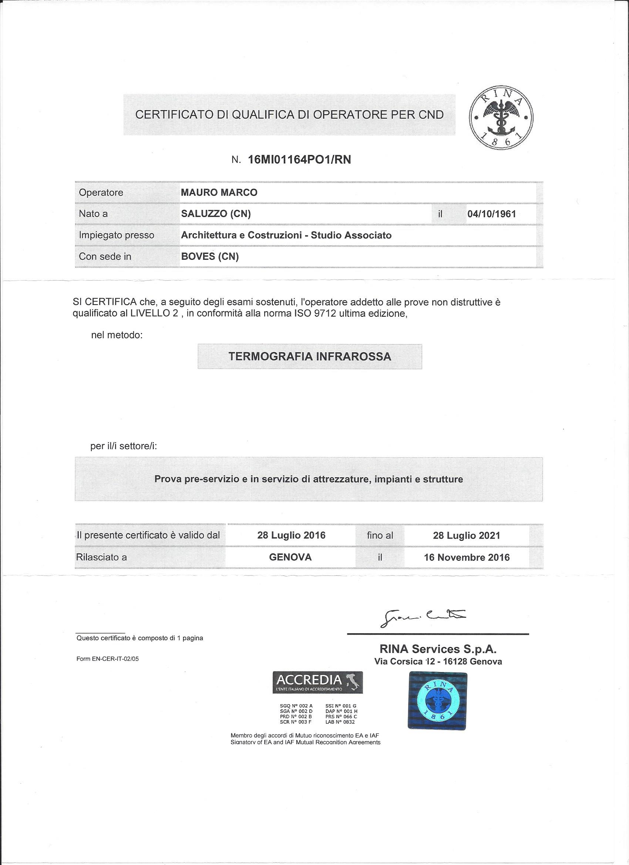 Operatore termografico II^ livelloTT_Rina