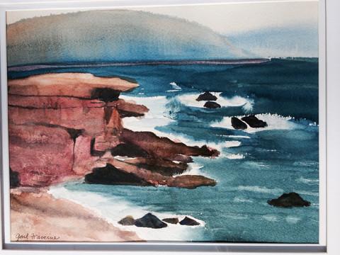 "Gail Francine Liebhaber, ""Acadia, rocky Maine coast"""