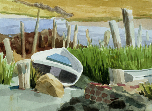 "Janet Hobbs, ""Low Tide in Maine"""