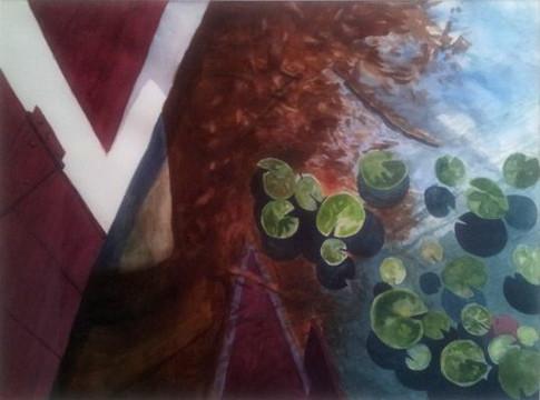 "Janet Hobbs, ""Boathouse Reflections"""