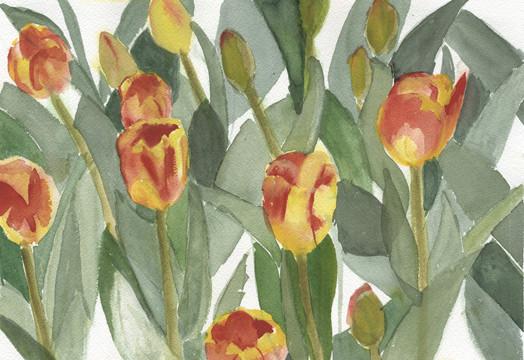 """Joan Ditzion, """"Tulip Rhythms"""","""