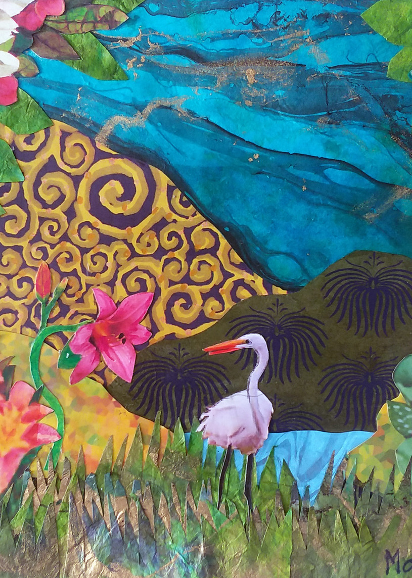 """Marci Davis, """"Lily and Egret have a Chat"""""""