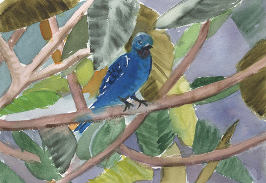 """Joan Ditzion, """"Nestled in Leaves"""""""