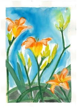 """Joan Ditzion, """"Daylillies"""""""
