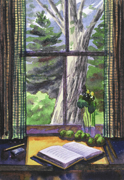 """Janet Hobbs, """"Adirondack Window"""""""
