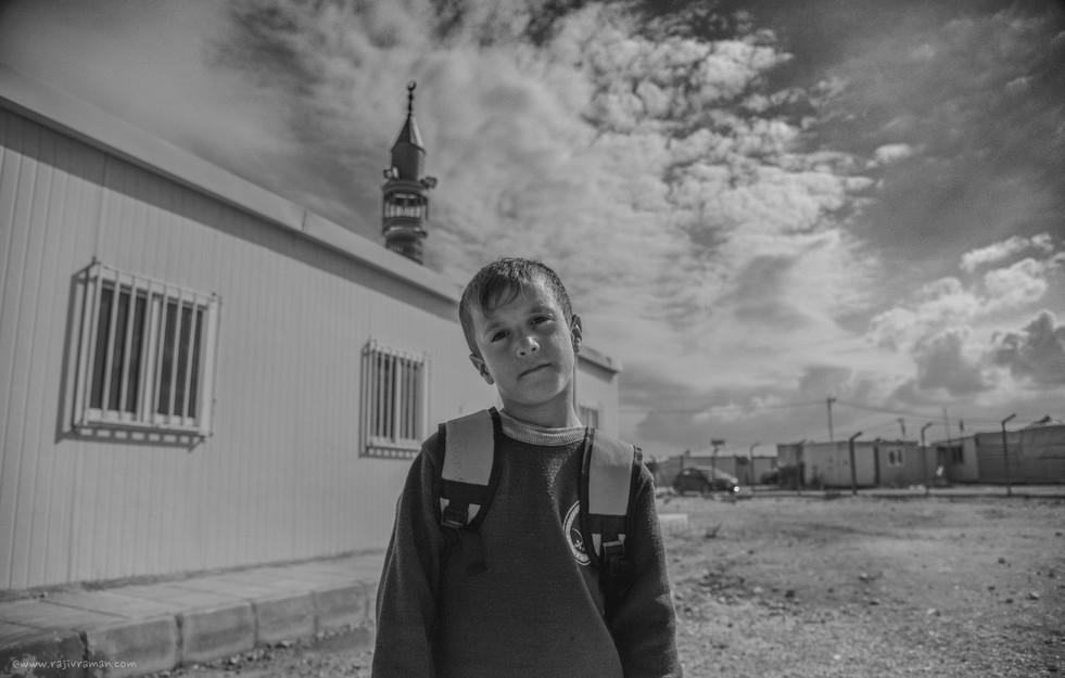 Zaatari Refugee camp. Jordan.