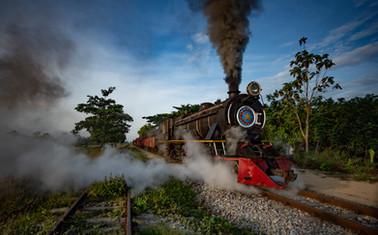 Chasing steam engines @Myanmar.