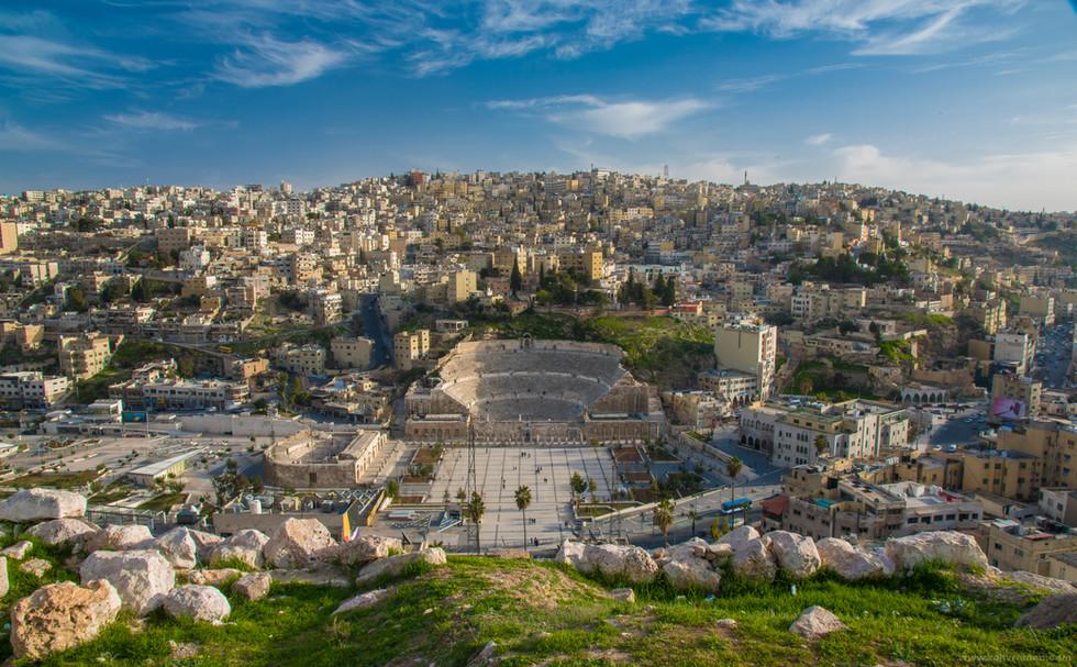 The downtown amphitheatre. Amman.