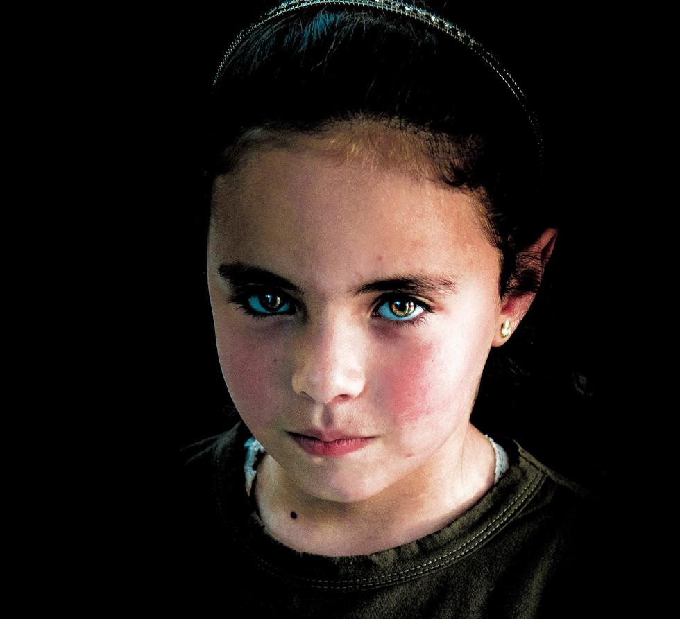Syrian Child at the Mafraq clinic run by IRC.