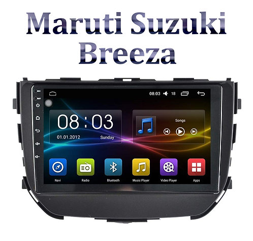 Maruti Suzuki Brezza 9 Inch Full HD Music System Dashboard