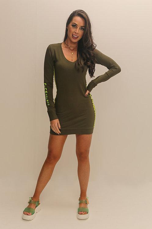Vestido Nina Morena Moletinho Verde