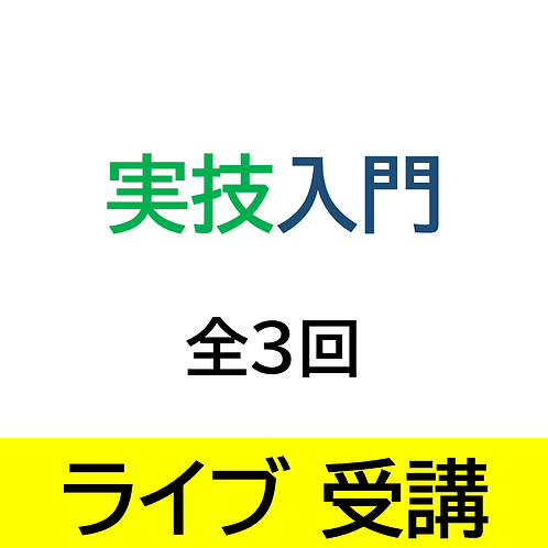 (仮)実技入門コース/全3回/ライブ受講