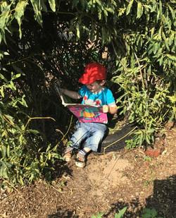 Tending to the herb garden