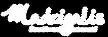 Logo Madrigalis Blanc sur fond transpare