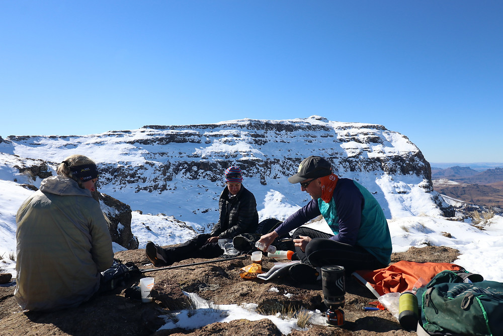 Coffee in the snow at 3000m above sea level - does life get any better?