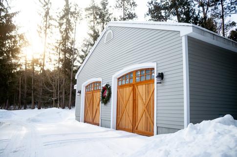Teak Wood Double Garage