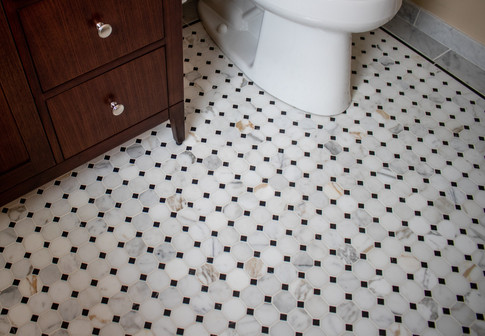 Marble Octagon Mosaic Bathroom