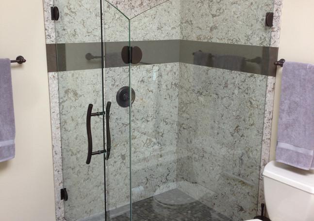 Corner Shower Remodel After