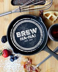 Brew Ha-Ha logo by Kimberly Meadowlark