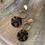Thumbnail: Tortoise shell & gold circle danglers