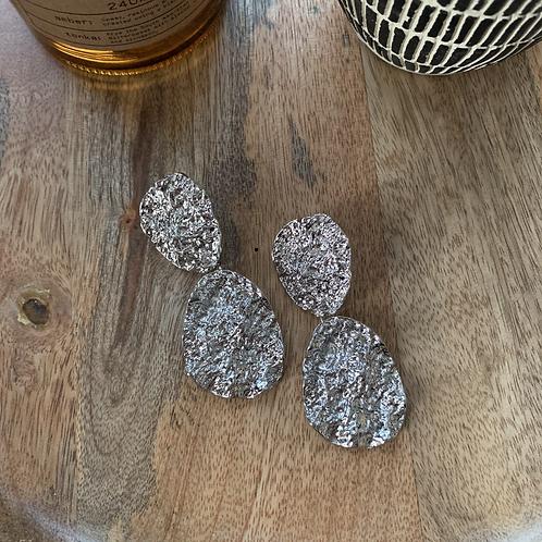 Silver chunky danglers